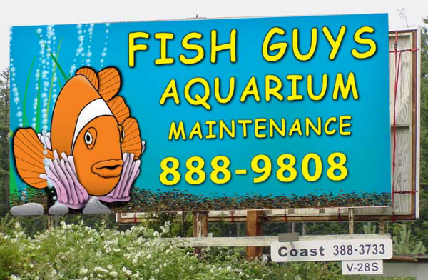 the Fish Guys Aquarium Maintenance Billboard in Victoria, BC